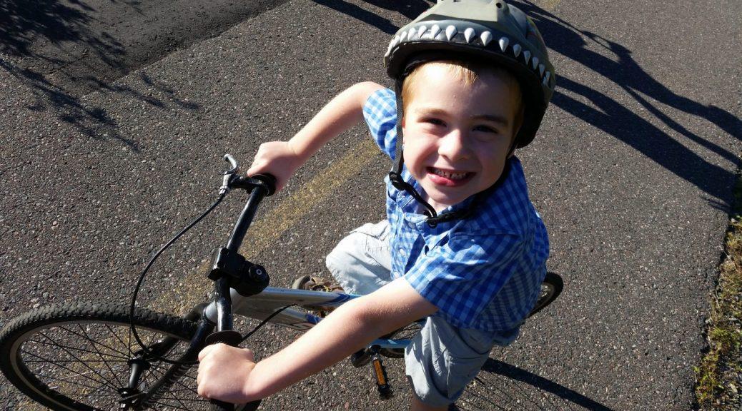 Cam Riding a Bike